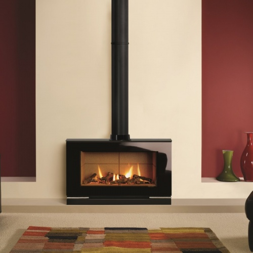 Stoves/vision large freestanding gas fire