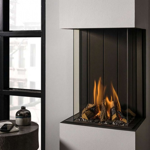 Stoves/vision tl38p panoramic gas fire