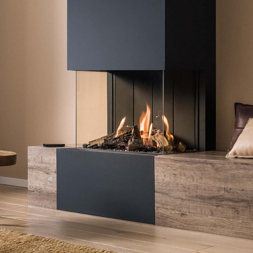 Stoves/vision tl63p panoramic gas fire